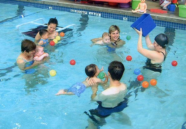 Parent and Tot Swimming Class with Balls